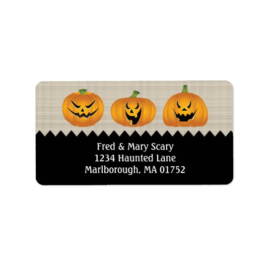 Jack-o-lanterns Halloween Return Address Label