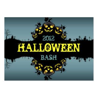 Jack-O-Lanterns Party Promotional Cards Business Card Templates