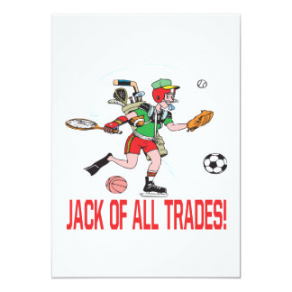 Jack Of All Trades 13 Cm X 18 Cm Invitation Card