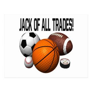 Jack Of All Trades Postcard