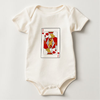 Jack of Hearts Playing Card Baby Bodysuit