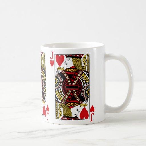 Jack Of Hearts Playing Card Coffee Mug