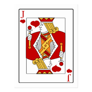 Jack of Hearts Playing Card Postcard