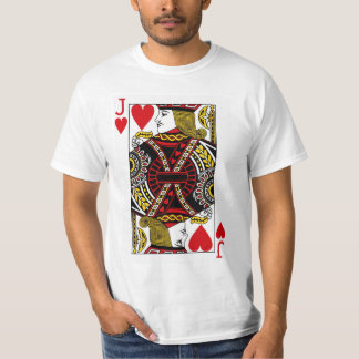 Jack Of Hearts Playing Card T-Shirt