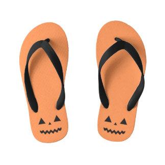 Jack O'Lantern Halloween Kids Flip Flops