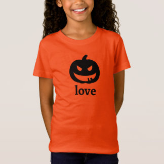 Jack O'Lantern Love T-Shirt in Orange