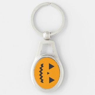 Jack O'Lantern Metal Keychain