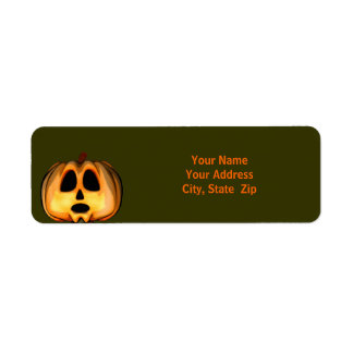 Jack O'Lantern Return Address Labels
