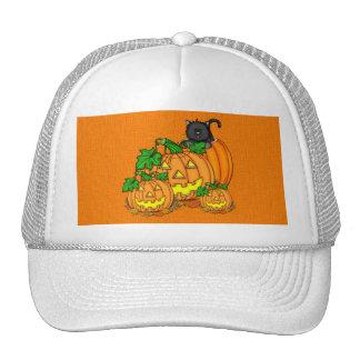 Jack O'Lanterns Halloween Mesh Hats