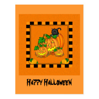 Jack O'Lanterns Halloween Postcard