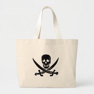 Jack Rackham-Black Jumbo Tote Bag