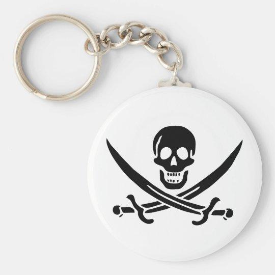 Jack Rackham black skull keychain