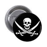 Jack Rackham; Jolly Roger Flag; Pirate 6 Cm Round Badge