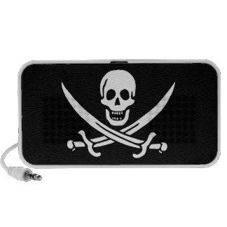 Jack Rackham Jolly Roger Flag Pirate Notebook Speaker