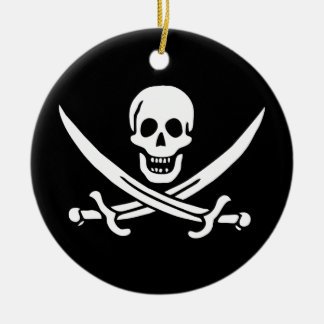 Jack Rackham Pirate Flag Christmas Ornament