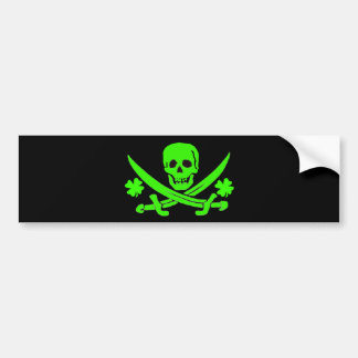 Jack Rackham-Shamrock Car Bumper Sticker