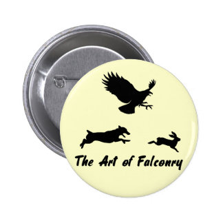 Jack Russel and Falconry Pinback Button