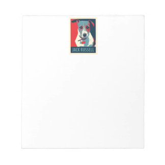Jack Russel Terrier Political Hope Parody Notepad