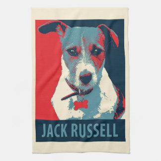 Jack Russel Terrier Political Hope Parody Tea Towel