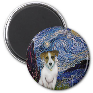 Jack Russell 10 - Starry Night Magnet