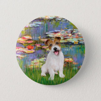 Jack Russell 11 - Llilies 2 6 Cm Round Badge