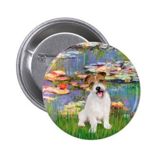 Jack Russell 11 - Llilies 2 6 Cm Round Badge