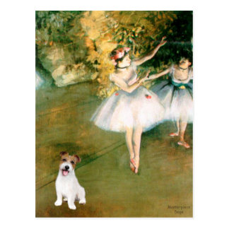 Jack Russell 11 - Two Dancers Postcard