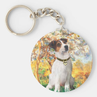 Jack Russell 3 - Spring Key Ring