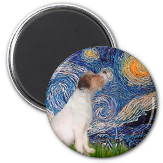 Jack Russell 5 - Starry Night Magnet