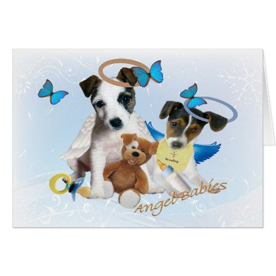 Jack Russell  Angel Babies Cards