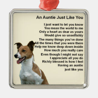 Jack Russell - Auntie Poem Christmas Ornament