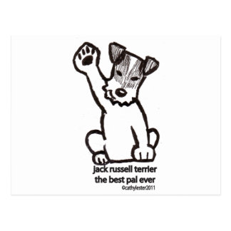 Jack Russell Best Pal Postcard