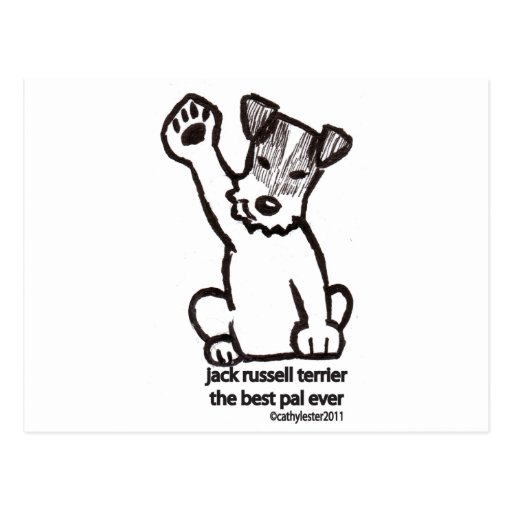 Jack Russell Best Pal Post Card