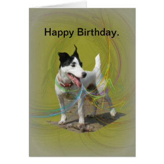 Jack Russell birthday card. Card
