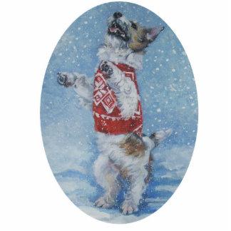 jack russell christmas ornament photo cutouts