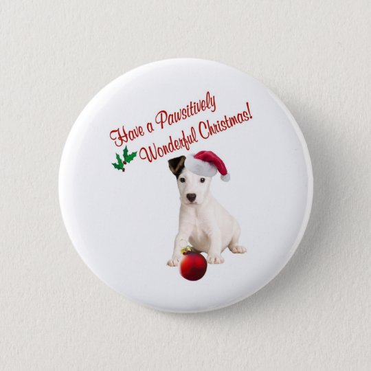 Jack Russell Christmas Wishes 6 Cm Round Badge