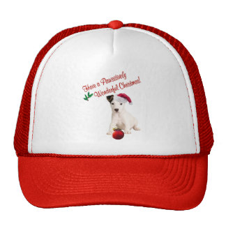 Jack Russell Christmas Wishes Mesh Hats