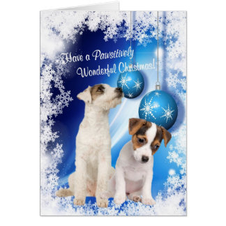 Jack Russell Christmas Wishes - Customize It! #2 Greeting Card