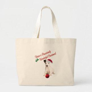 Jack Russell Christmas Wishes Jumbo Tote Bag