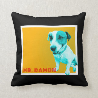 Jack russell funky black cushion