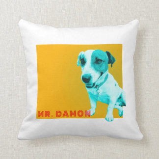 Jack russell funky throw pillow
