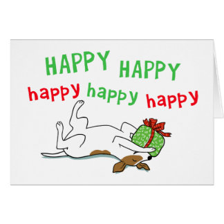 Jack Russell Happy Holiday Dog Christmas Cards