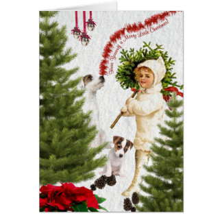 Jack Russell Have Yourself a Merry Christmas Greeting Card