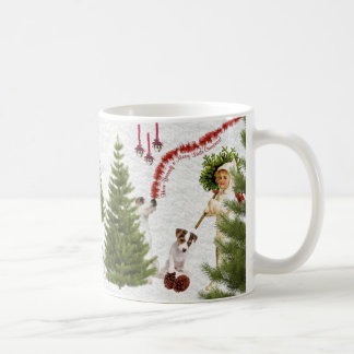 Jack Russell Have Yourself a Merry Christmas Basic White Mug