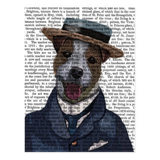 Jack Russell in Boater 2 Postcard