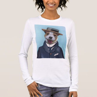 Jack Russell in Boater Long Sleeve T-Shirt