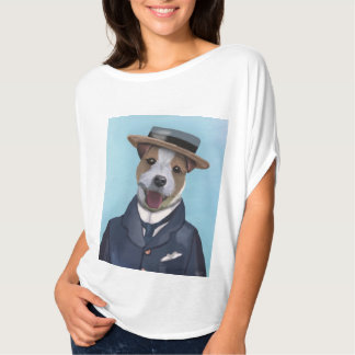 Jack Russell in Boater T Shirt