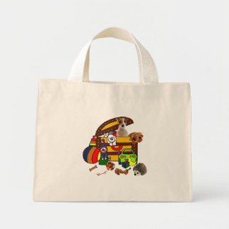 JACK RUSSELL IN THE TOY BOX MINI TOTE BAG