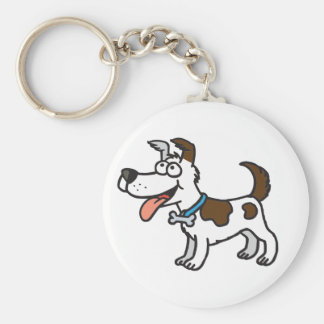 Jack Russell Key Ring Basic Round Button Key Ring