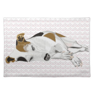 Jack Russell Lying Down Sleeping Placemat